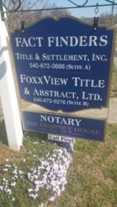 Factfinders and Foxxview Title & Settlement